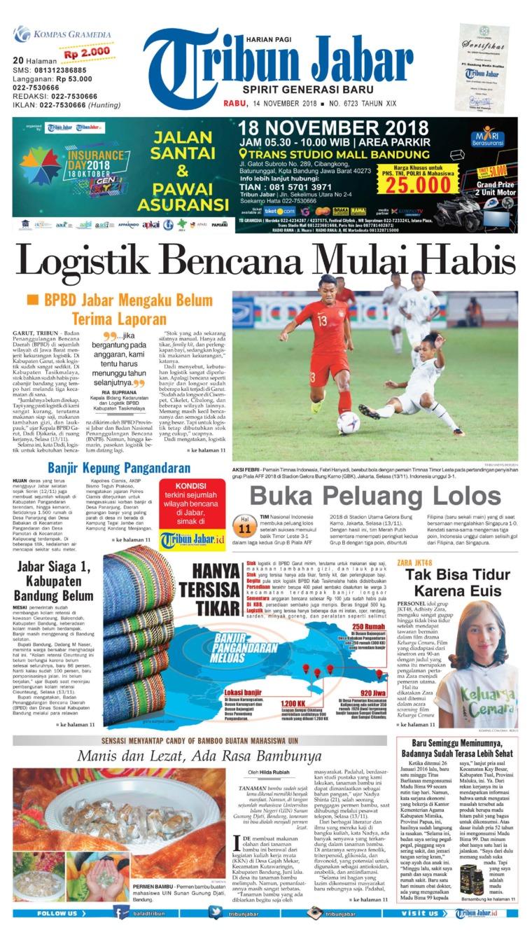 Tribun Jabar Newspaper 14 November 2018 - Gramedia Digital