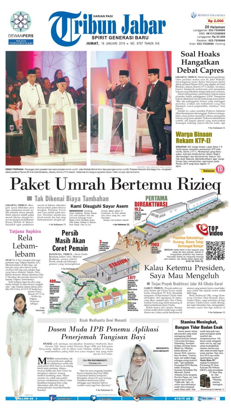 Koran Digital Tribun Jabar 18 Januari 2019