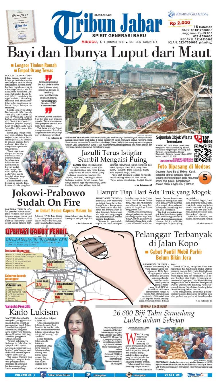 Tribun Jabar Digital Newspaper 17 February 2019