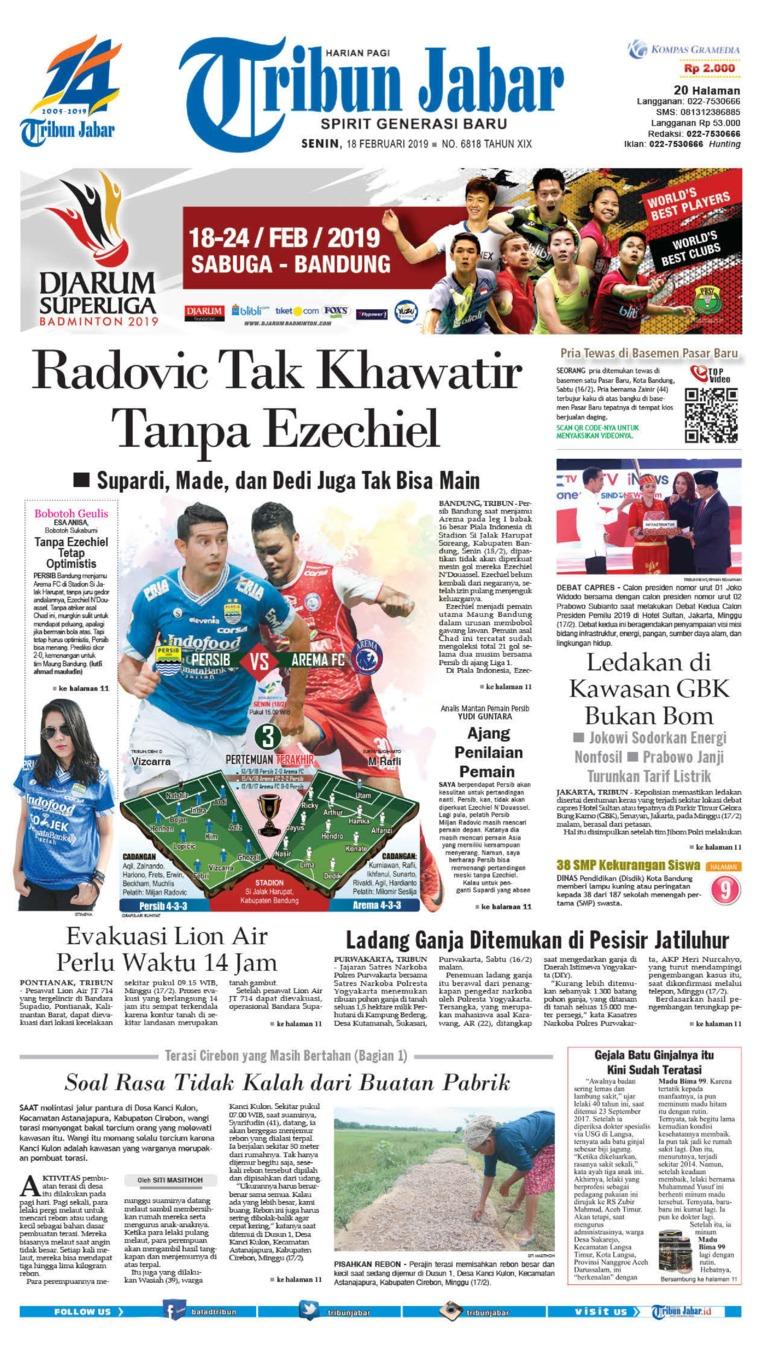 Koran Digital Tribun Jabar 18 Februari 2019