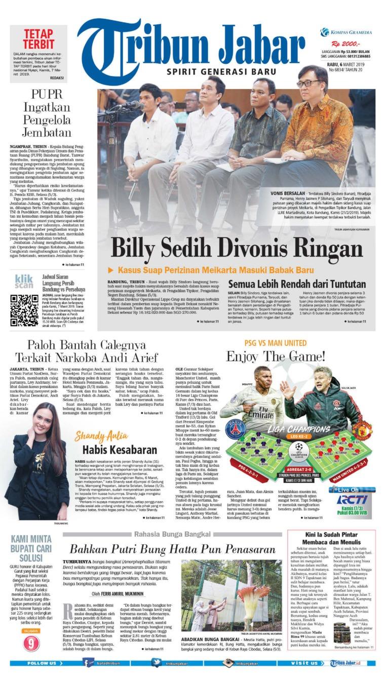 Tribun Jabar Newspaper 06 March 2019 - Gramedia Digital