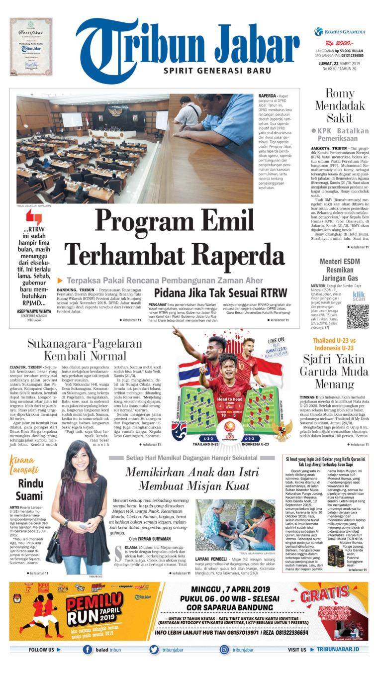 Koran Digital Tribun Jabar 22 Maret 2019
