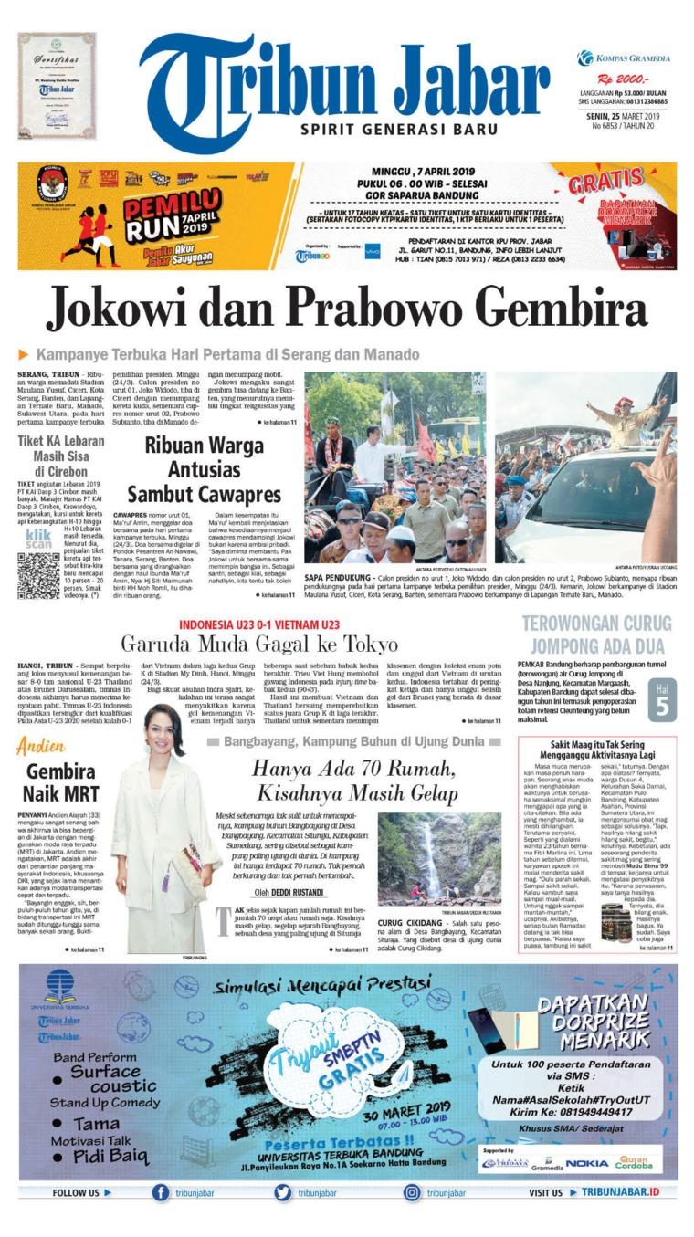 Tribun Jabar Digital Newspaper 25 March 2019