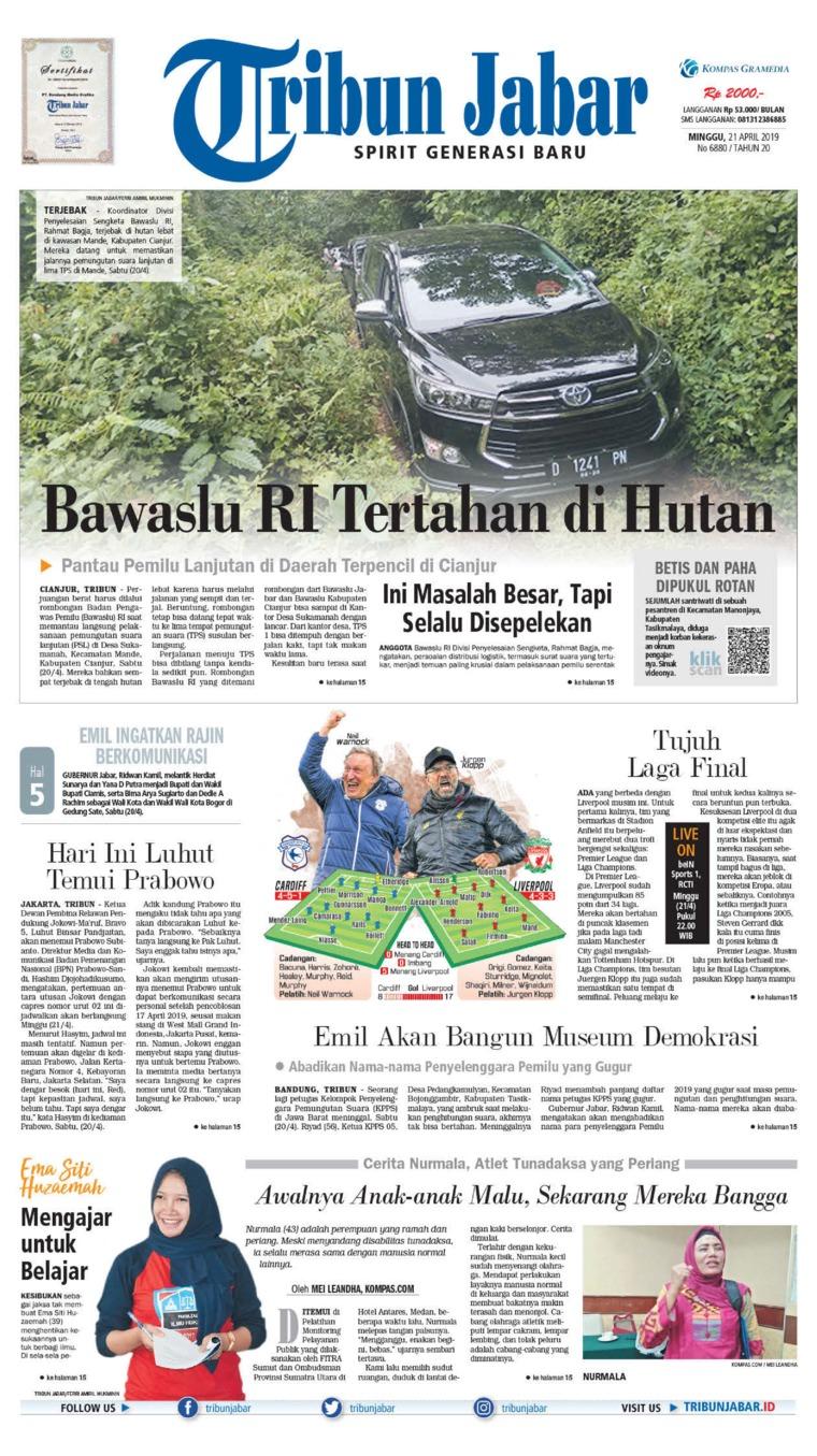 Tribun Jabar Digital Newspaper 21 April 2019
