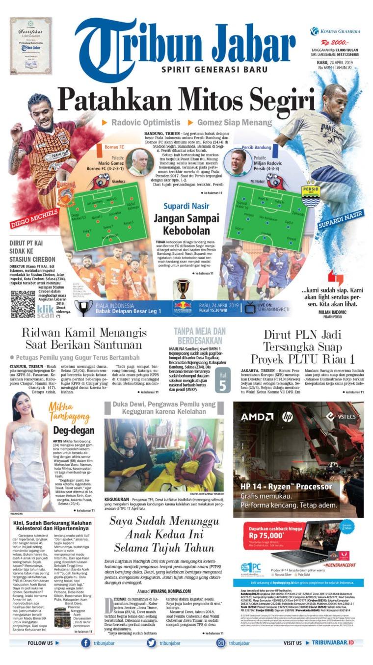 Koran Digital Tribun Jabar 24 April 2019