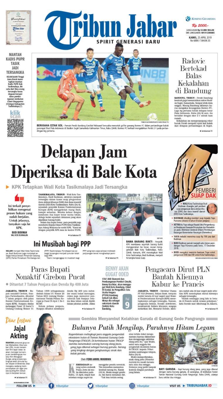 Tribun Jabar Digital Newspaper 25 April 2019