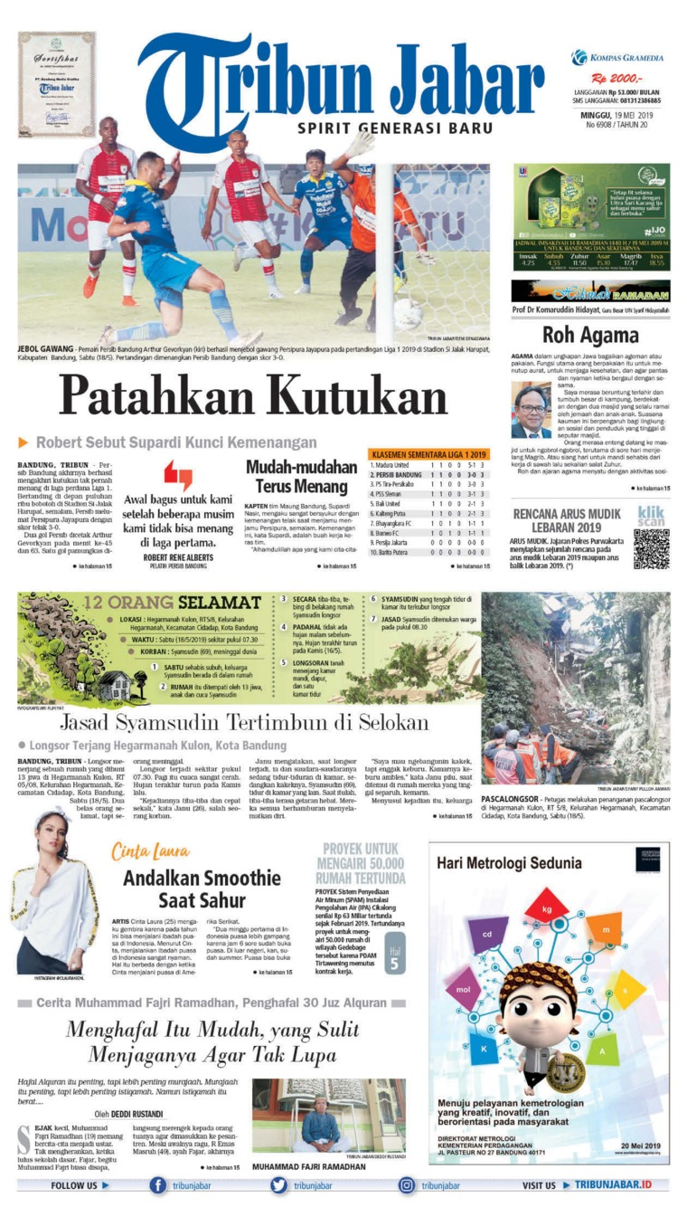 Tribun Jabar Digital Newspaper 19 May 2019