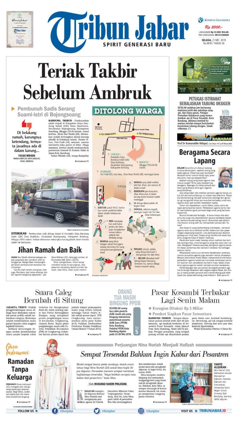 Tribun Jabar Digital Newspaper 21 May 2019