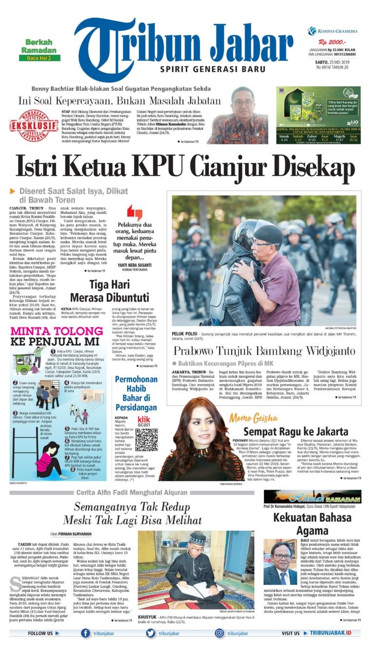 Koran Digital Tribun Jabar 25 Mei 2019