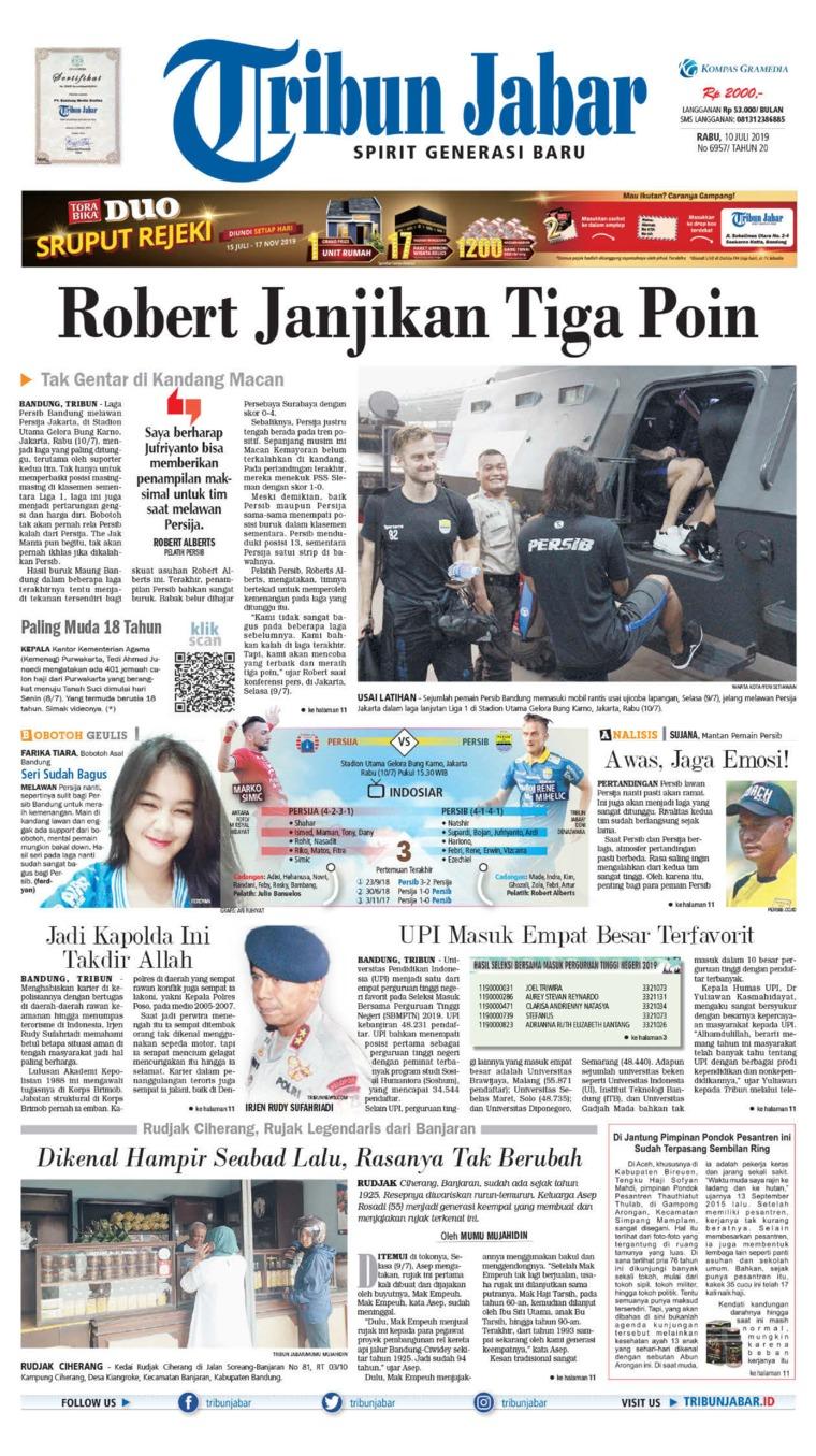 Koran Digital Tribun Jabar 10 Juli 2019