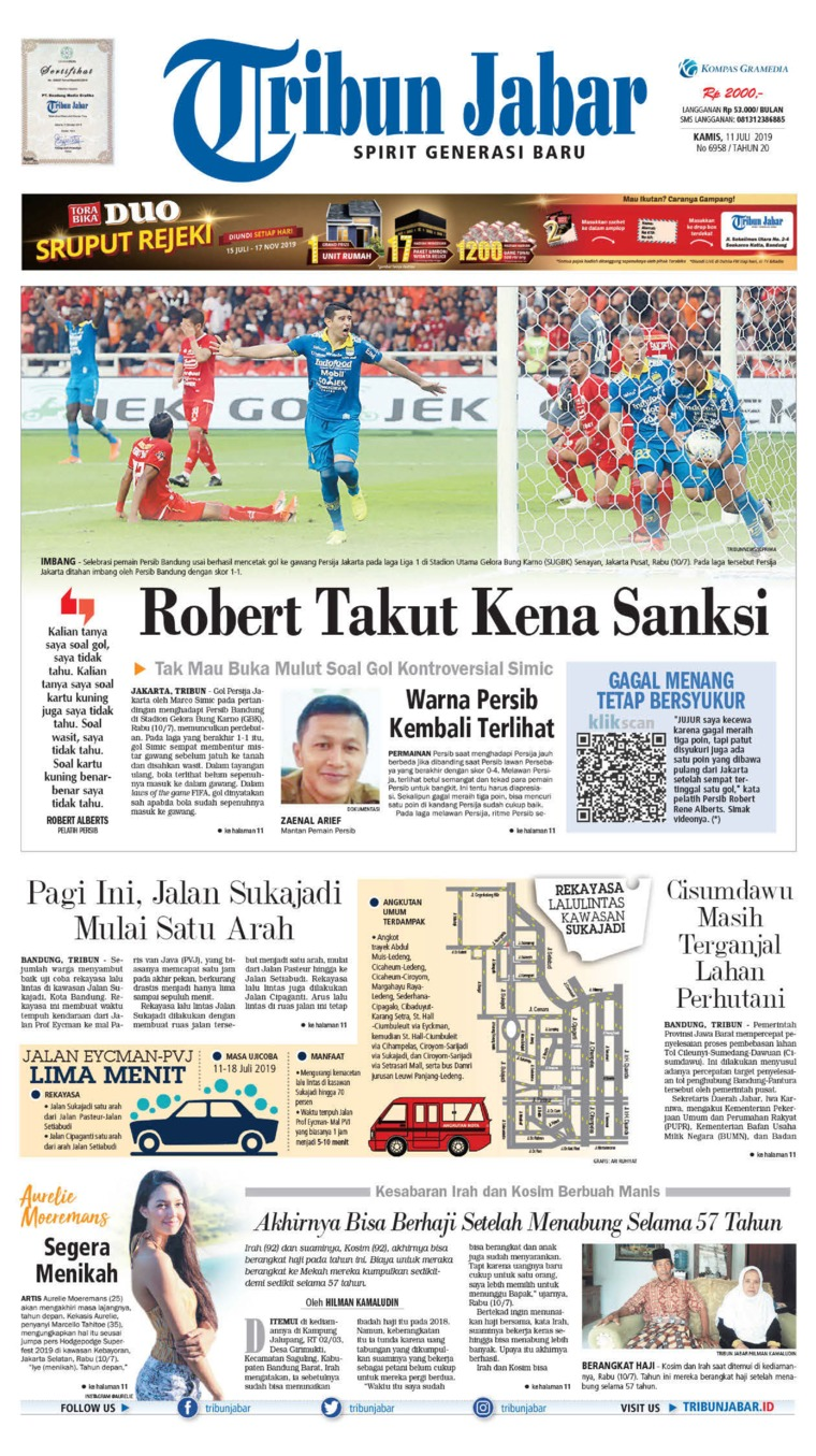Tribun Jabar Digital Newspaper 11 July 2019