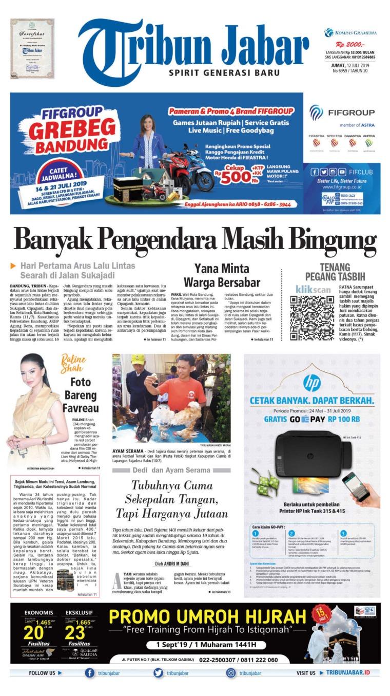 Tribun Jabar Digital Newspaper 12 July 2019