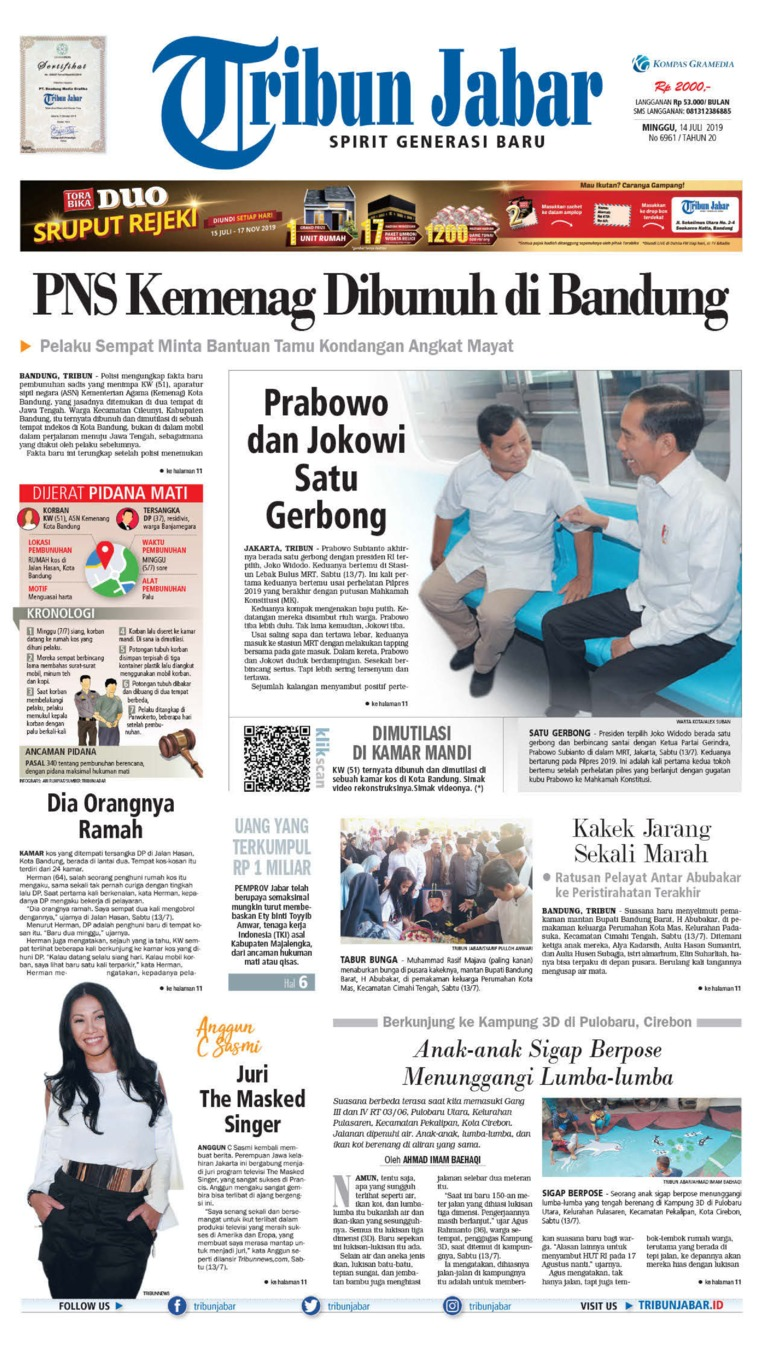 Tribun Jabar Digital Newspaper 14 July 2019
