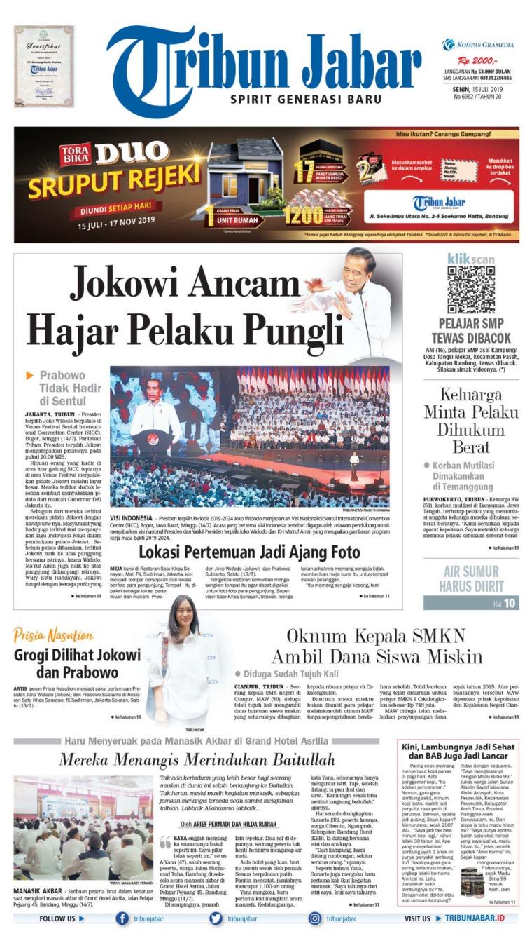 Koran Digital Tribun Jabar 15 Juli 2019