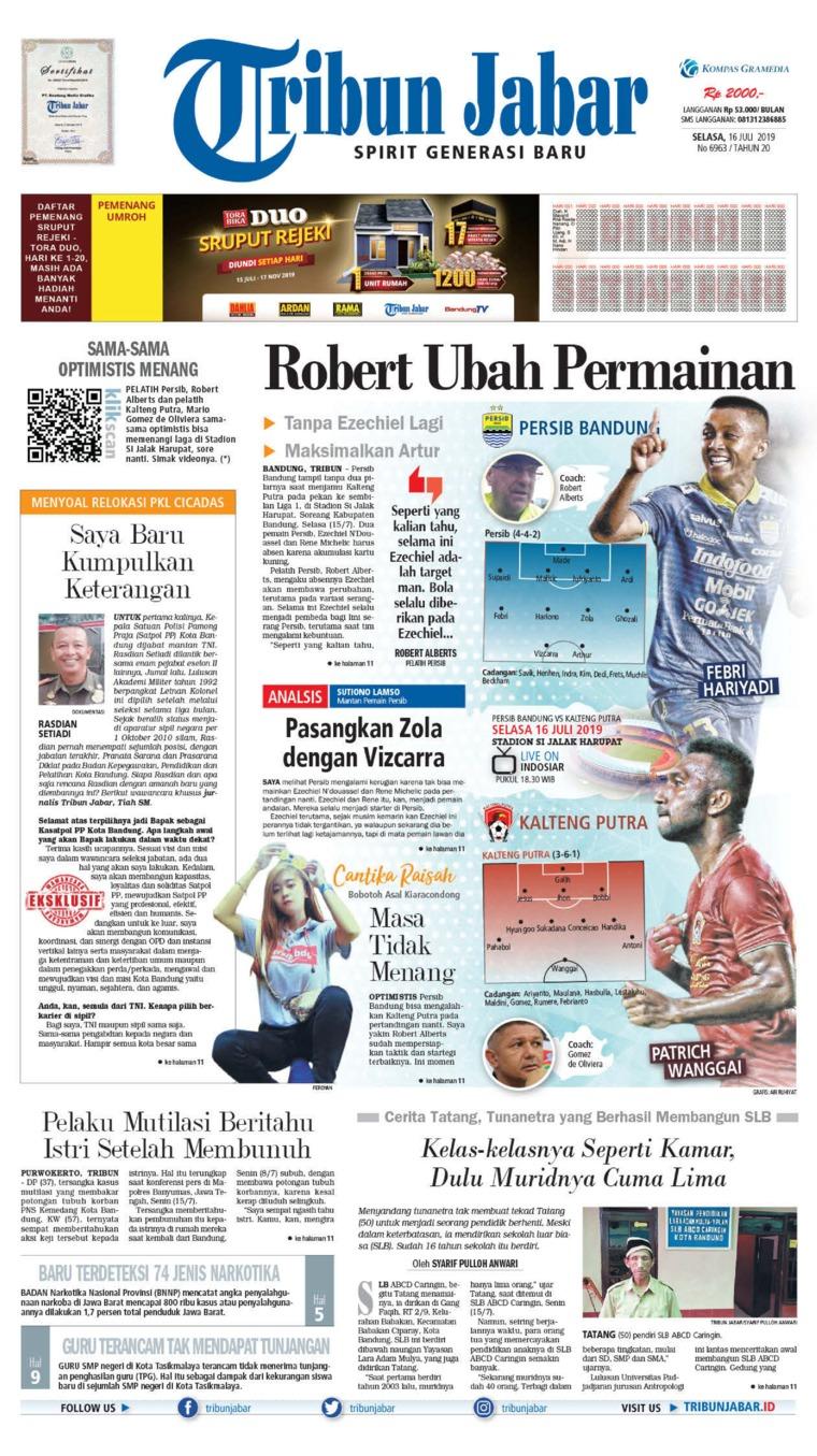 Tribun Jabar Digital Newspaper 16 July 2019