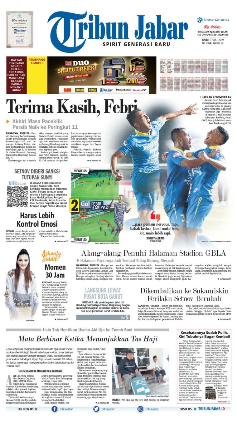 Tribun Jabar Digital Newspaper 17 July 2019