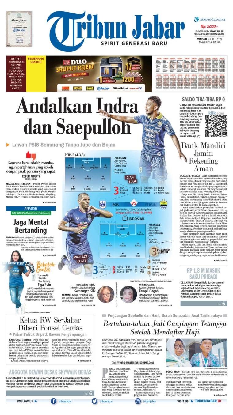 Koran Digital Tribun Jabar 21 Juli 2019