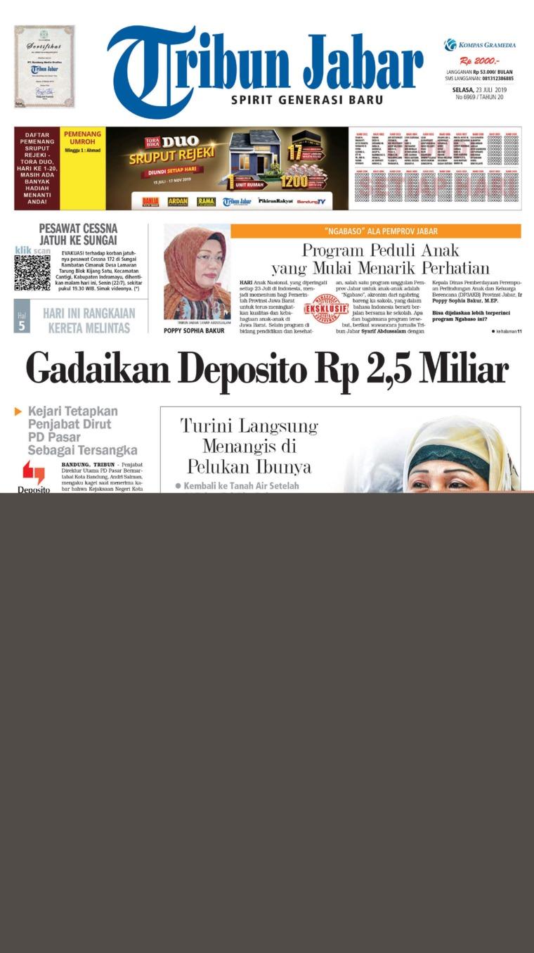 Koran Digital Tribun Jabar 23 Juli 2019