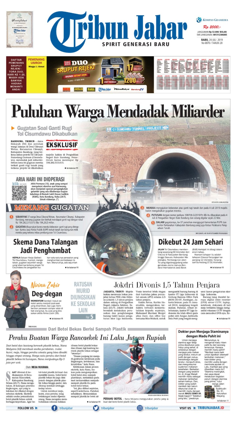 Tribun Jabar Digital Newspaper 24 July 2019