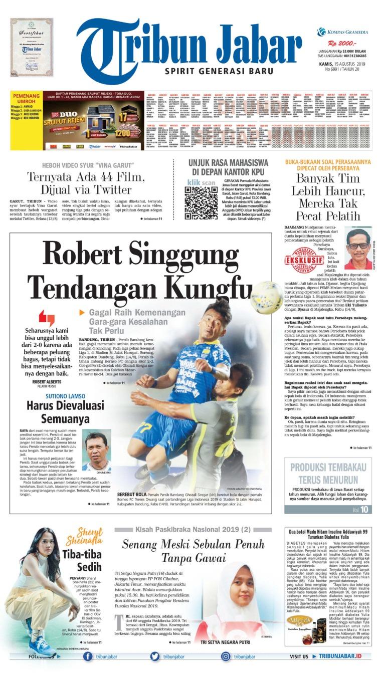 Koran Digital Tribun Jabar 15 Agustus 2019