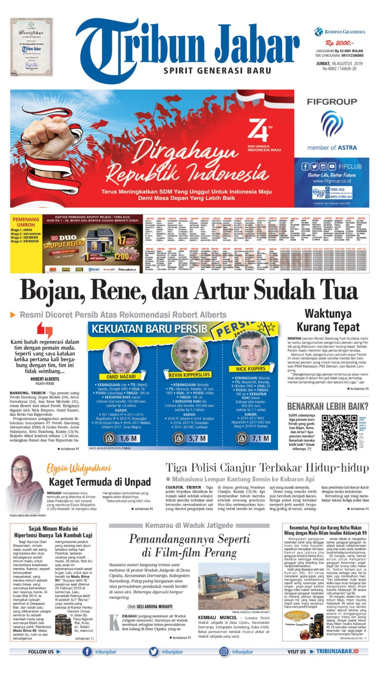 Koran Digital Tribun Jabar 16 Agustus 2019