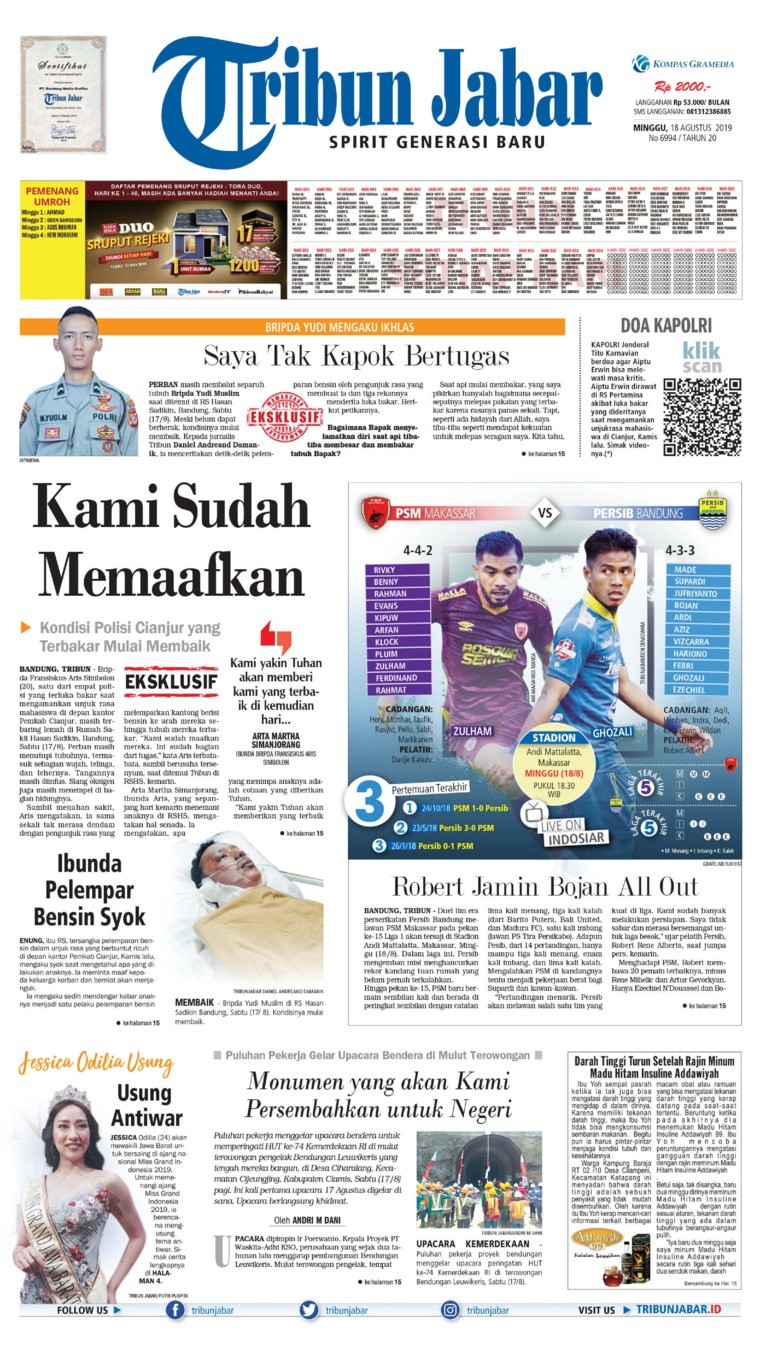 Koran Digital Tribun Jabar 18 Agustus 2019