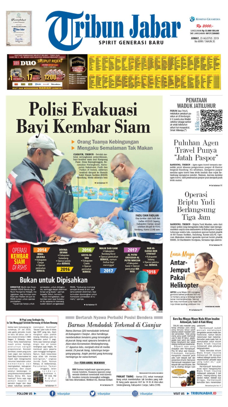 Koran Digital Tribun Jabar 23 Agustus 2019