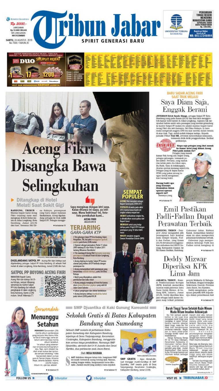 Tribun Jabar Digital Newspaper 24 August 2019