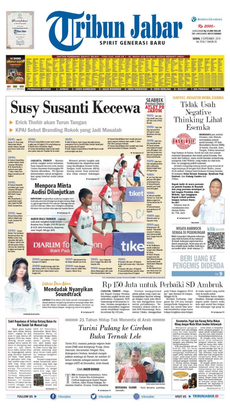 Tribun Jabar Digital Newspaper 09 September 2019
