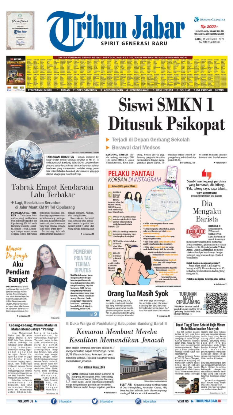 Tribun Jabar Digital Newspaper 11 September 2019