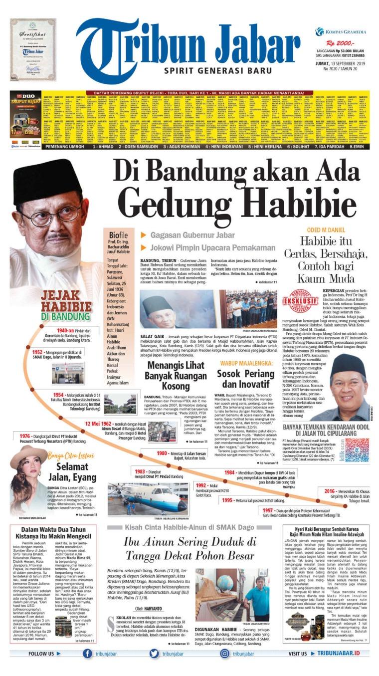 Tribun Jabar Digital Newspaper 13 September 2019