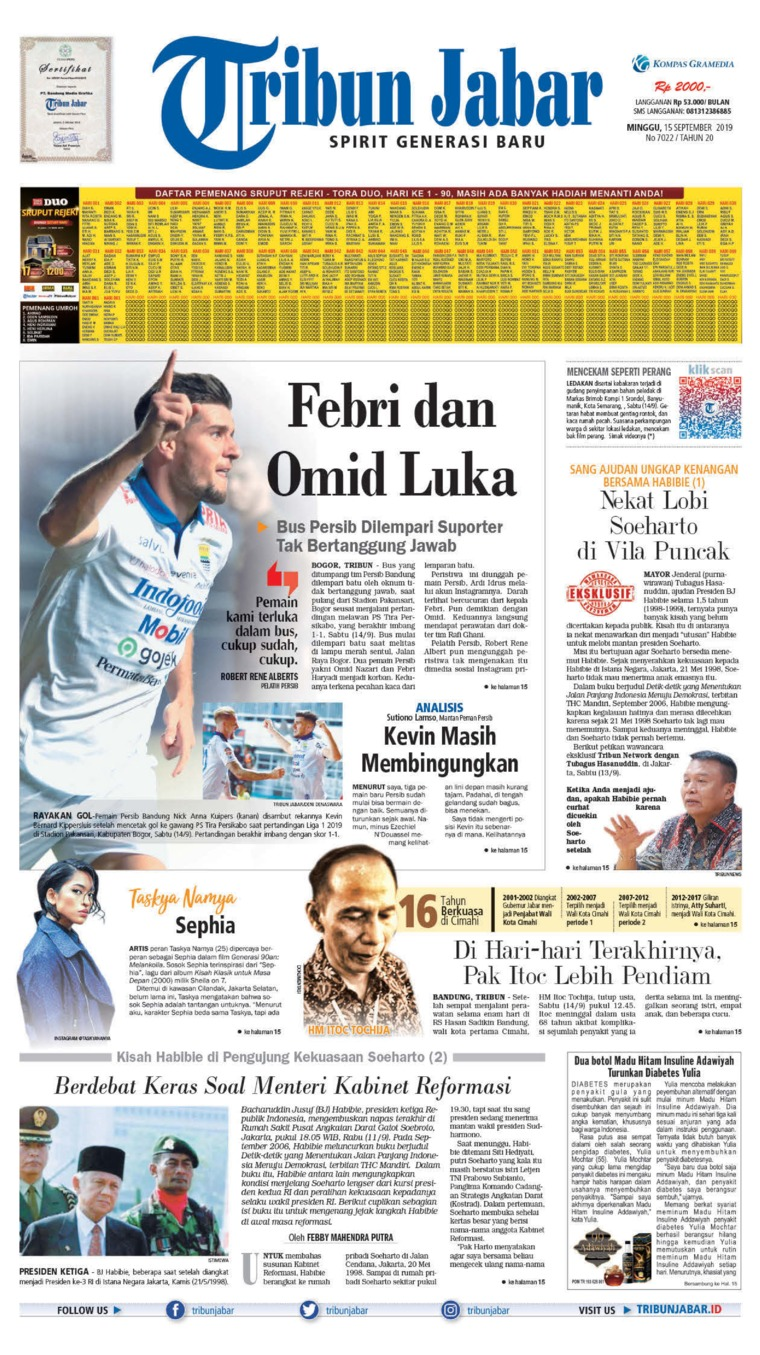 Tribun Jabar Digital Newspaper 15 September 2019