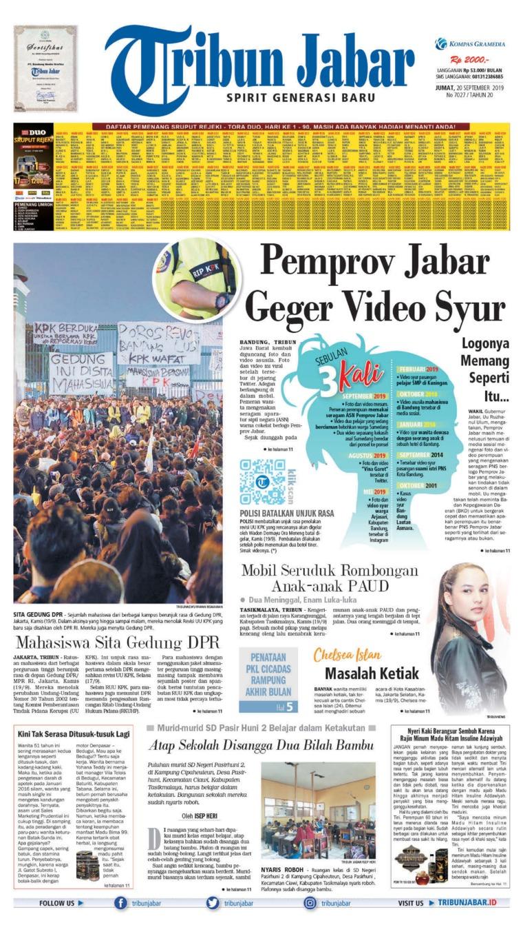 Tribun Jabar Digital Newspaper 20 September 2019