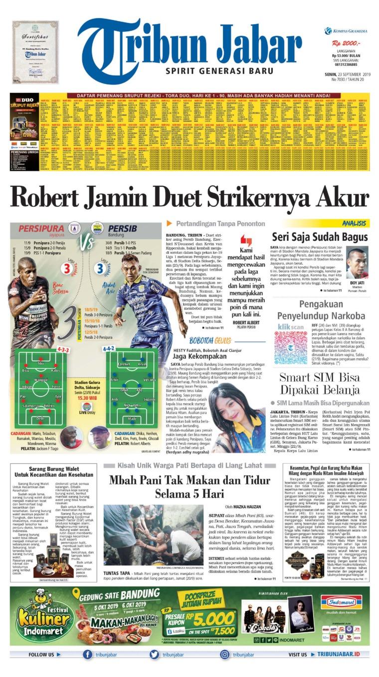 Tribun Jabar Digital Newspaper 23 September 2019