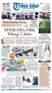 Cover Tribun Jabar 26 Mei 2018
