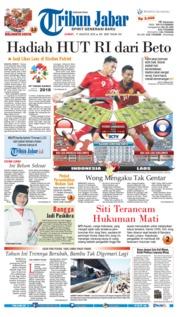Cover Tribun Jabar 17 Agustus 2018