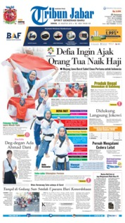 Tribun Jabar Cover 20 August 2018