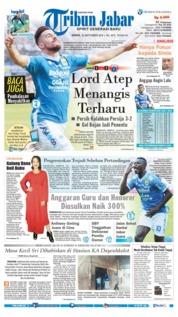 Cover Tribun Jabar 24 September 2018
