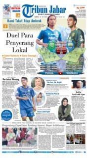 Cover Tribun Jabar 20 Oktober 2018