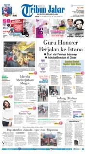 Cover Tribun Jabar 22 Oktober 2018