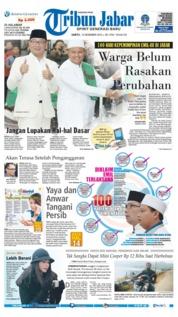 Cover Tribun Jabar 15 Desember 2018
