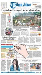 Cover Tribun Jabar 17 Februari 2019
