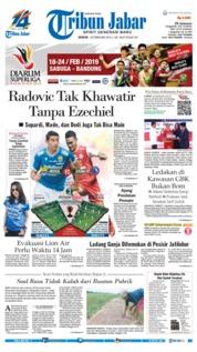 Cover Tribun Jabar 18 Februari 2019