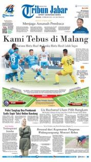 Cover Tribun Jabar 19 Februari 2019