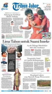 Cover Tribun Jabar 21 Februari 2019