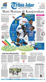 Cover Tribun Jabar 22 Februari 2019