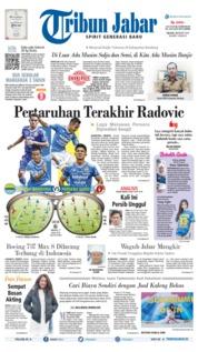 Cover Tribun Jabar 12 Maret 2019