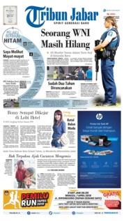 Cover Tribun Jabar 16 Maret 2019