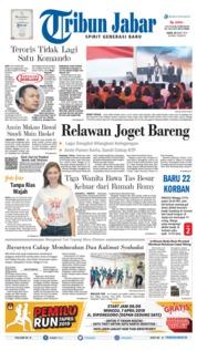 Cover Tribun Jabar 18 Maret 2019