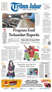 Cover Tribun Jabar 22 Maret 2019